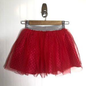 Disney Minnie Red Tulle Skirt Girls 7/8 Polka Dots